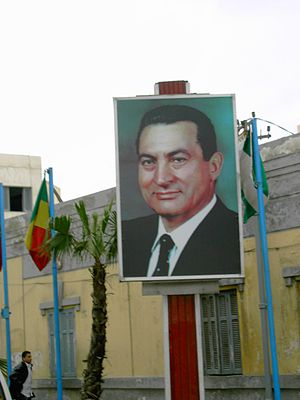 Portrait election 2005 Hosny Moubarak