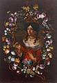 Portrait of a lady in a wreath of flowers c1700.jpg