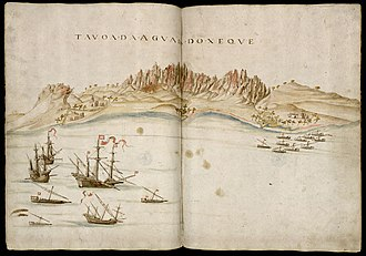Capture of Ormuz (1507) - Portuguese sketch of Socotra, 1541.