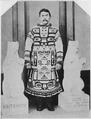 "Post card. ""John Kian, Ketchikan, Alaska, son of Thlinket Chief, of Kintahook family, clad in expensive Chilkat coat... - NARA - 298075.tif"