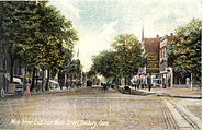 PostcardMainStFromWhiteStDanburyCT1907