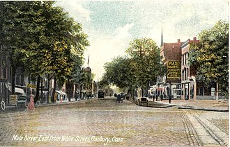 Danbury, Connecticut - Image: Postcard Main St From White St Danbury CT1907