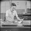 Poston, Arizona. Saburo Tomita, foreman of the print shop, and the only Japanese-American to hold a . . . - NARA - 537113.tif