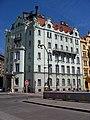 Praha, Goethe-Institut, z mostu na Slovanský ostrov.jpg