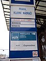 Praha hlavní nádraží, autobusová zastávka směr Norimberk, označení.jpg