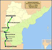 Prasanti Nilayam Express (Yesvantpur - Kacheguda) Route map.jpg