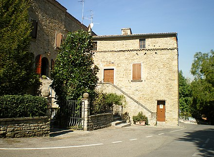 Birthplace of Benito Mussolini in Predappio - the building is now used as a museum Predappio house.JPG