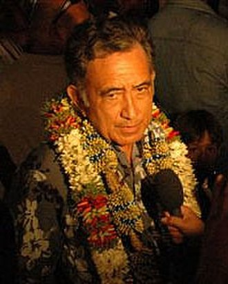President of French Polynesia - Image: President Oscar Temaru