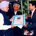 Prijesh Kannan with Dr. Manmohan Singh.JPG