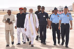Prime Minister Narendra Modi at Iron Fist 2016 at Pokhran, Rajasthan.jpg