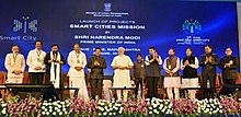 Prime Minister Narendra Modi at the launch of Smart Cities Mission, Pune.jpg