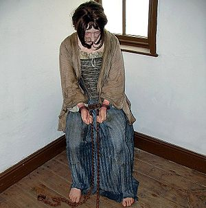 Barefoot - Barefooted female prisoner; Wales, 19th century (museum exhibit)