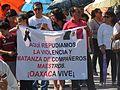 Protesta en favor de los profesores de Oaxaca, en la plaza principal de Aguascalientes (junio, 2016) 18.jpg