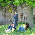 Protesters under a tree, May 23, 2007.jpg