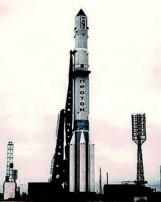 Baikonur Cosmodrome Site 200 - Image: Proton with Granat