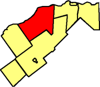 Location within Prescott and Russell