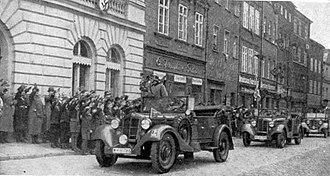 Prudnik - German military parade in Neustadt