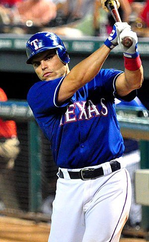 Iván Rodríguez - Rodríguez with the Texas Rangers in 2009