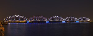Railway Bridge, Riga - Image: Puente del Ferrocarril, Riga, Letonia, 2012 08 07, DD 11