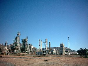 Repsol - Repsol oil refinery in Puertollano.