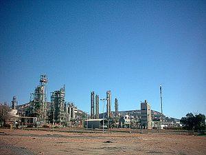 Repsol - Repsol oil refinery in Puertollano.