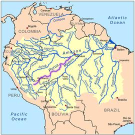 Mapa rieky a povodia
