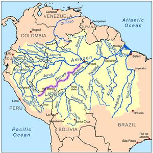 אגן הניקוז של נהר פורוס, במערכת הניקוז הכללית של האמזונאס