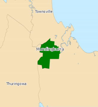 Electoral district of Mundingburra - 2008 map