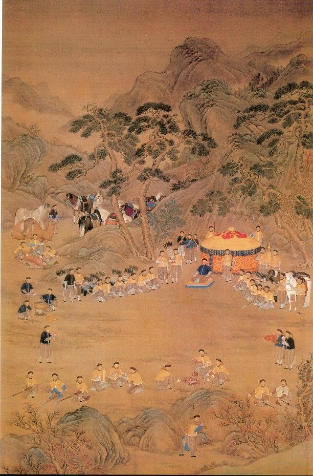 Qianlong Emperor hunting trip