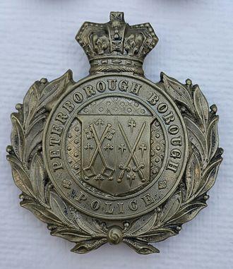 Peterborough City Police - Queen Victoria Crown Peterborough City Police Badge 1874 - 1901