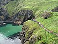 Queue for Carrick-a-Rede Rope Bridge - geograph.org.uk - 925789.jpg