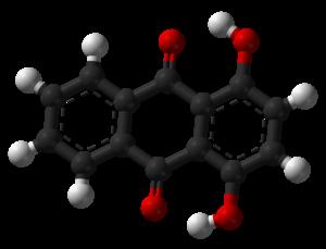 1,4-Dihydroxyanthraquinone - Image: Quinizarin 3D balls