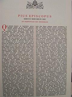 <i>Quo primum</i> papal bull