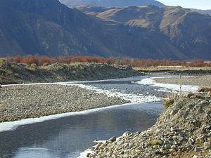 Chacabuco River - Image: Río Chacabuco semicongelado