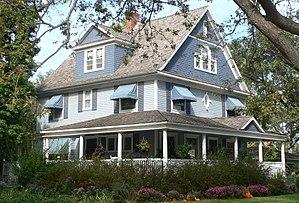National Register of Historic Places listings in Richardson County, Nebraska - Image: R. A. Clark house (Stella, Nebraska) from SE 1