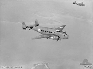 No. 13 Squadron RAAF - Two Hudson aircraft from No. 13 Squadron near Darwin in 1940