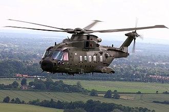 RAF Benson - A RAF AgustaWestland Merlin HC3A.