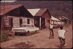 Rand, West Virginia - Street scene in Rand in the 1970s