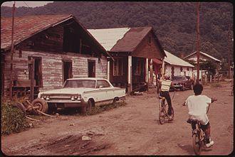 Rand, West Virginia - Street scene in Rand in the 1970s