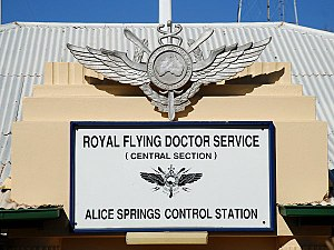 Royal Flying Doctor Service of Australia - Old RFDS logo at Alice Springs Base