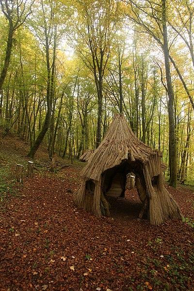 Cabane dans la RNN de Chalmessin.