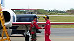 ROCAF Thundertigers Pilot Handshaking with Crew Chief after Performance 20151121.jpg