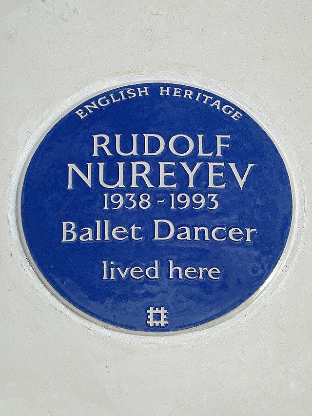 Rudolf Nureyev blue plaque - Rudolf Nureyev 1938-1993 Ballet Dancer lived here