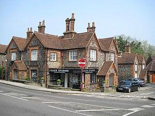 Radlett town in Hertfordshire, England