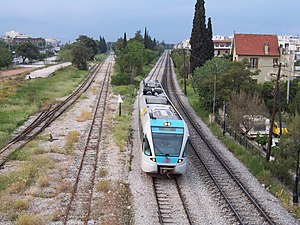 Agioi Anargyroi - Proastiakos in Agioi Anargyroi coming from the airport to Athens