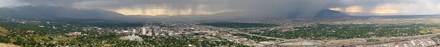 A panoramic view of Salt Lake City, June 2009