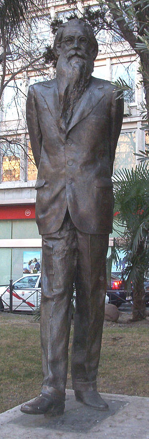 Ramón del Valle-Inclán - Statue on the Paseo de Recoletos in Madrid, by Francisco Toledo Sánchez (1972)
