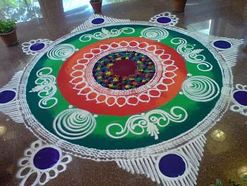 Rangoli at a hotel in Pune, India