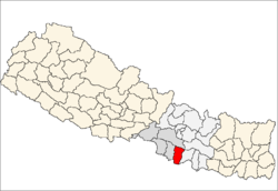 map of Rautahat, Nepal