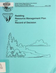 Record of decision : resource management plan for Redding Resource Area